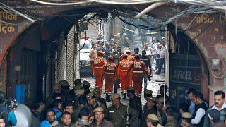 فيديو: مصرع 43 شخصا على الأقل بحريق مصنع في نيودلهي