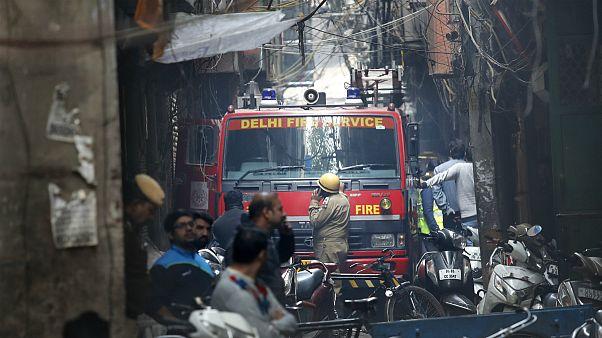 آتشسوزی در کارخانه ای در دهلی نو