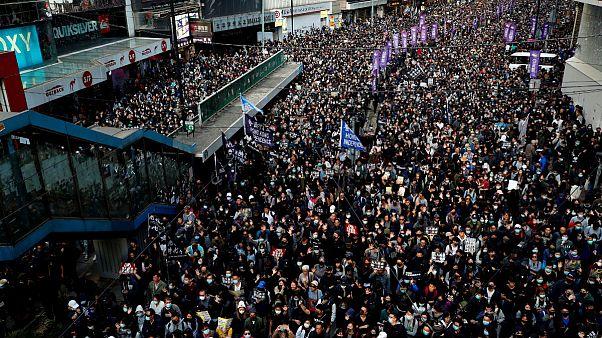 برگزاری بزرگترین تظاهرات پس از انتخابات محلی در هنگ کنگ