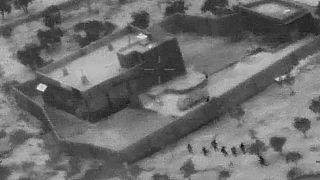 صورة من العملية الحقيقية التي استهدفت البغدادي بنجاح