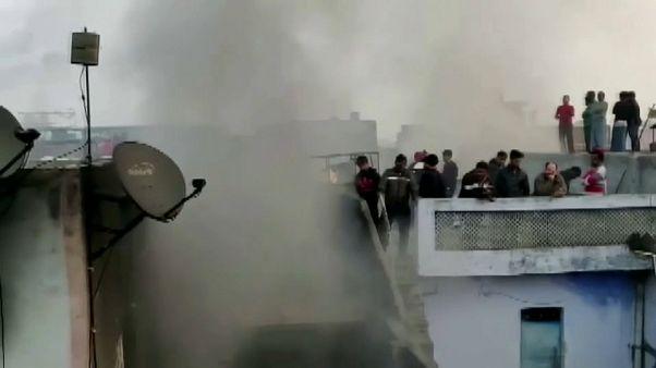 Sokan meghaltak egy újdelhi épülettűzben