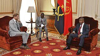 Príncipe Harry, de Inglaterra, na recente visita ao Presidente de Angola