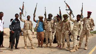 عدد من الجنود السودانيين يحاربون في اليمن في صفوف التحالف العربي بقيادة السعودية ضد الحوثيين. 22/06/2018