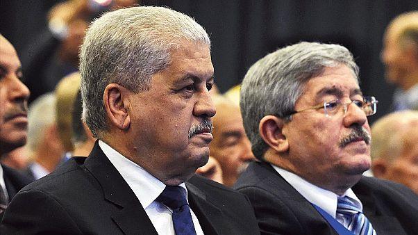 Eski Cezayir Başbakanları Abdülmelik Sellal (solda) Ahmed Uyahya (solda)