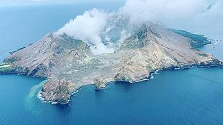 White Island volcano 3 hours before the eruption.