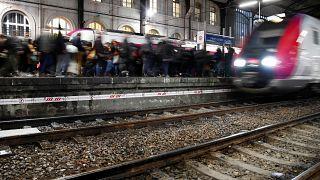 Gare Saint-Lazare in Paris on December 9, 2019.