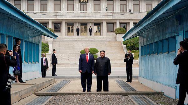 دیدار رهبران کره شمالی و ایالات متحده آمریکا در منطقه غیرنظامی