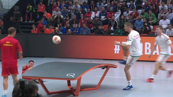 Budapest: Ungarn dominiert Teqball-WM 2019