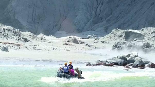 Decenas de posibles fallecidos por la erupción del Whakaari en Nueva Zelanda