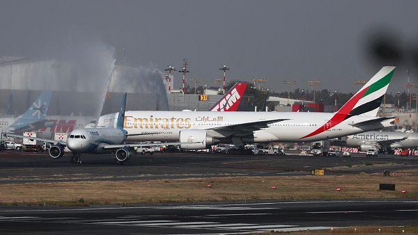 شاهد: أطول رحلة لطيران الإمارات باتجاه المكسيك