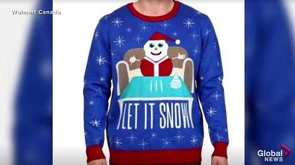 Koksnase Weihnachtsmann: Für diesen Pullover hat sich Walmart Kanada nun entschuldigt