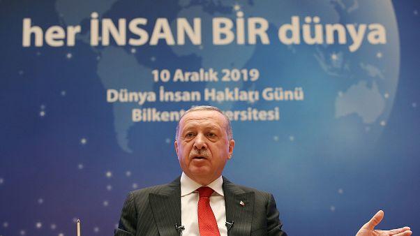 """Cumhurbaşkanı Recep Tayyip Erdoğan, Bilkent Üniversitesi'nde Dünya İnsan Hakları Günü kapsamında düzenlenen """"Her İnsan Bir Dünya"""" temalı programa katıldı"""