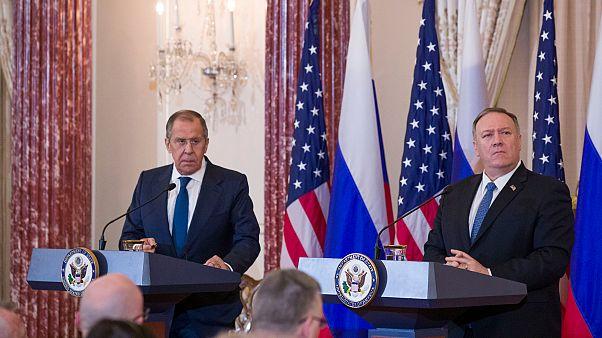 Rusya Dışişleri Bakanı Sergey Lavrov ile ABD Dışişleri Bakanı Mike Pompeo'nun ortak basın toplantısı