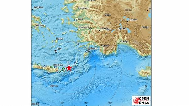 Σεισμός 5,3 Ρίχτερ στην Κρήτη και 4,1 στην Κέα