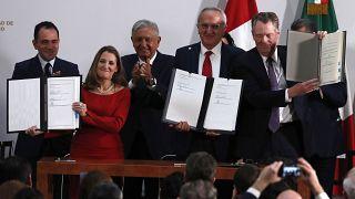 México, EEUU y Canadá firman el nuevo acuerdo comercial T-MEC