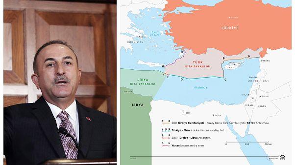 """Τσαβούσογλου: """"Όποιος μπει στην υφαλοκρηπίδα μας θα τον εμποδίσουμε"""" - Νέος προκλητικός χάρτης"""