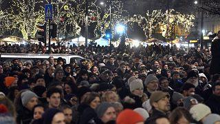 Tüntetés a kulturális törvénycsomag ellen 2019- december 9-én Budapesten