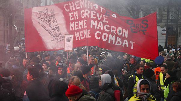 Une partie du cortège de la manifestation parisienne, le 10 décembre 2019