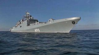 Ракетная стрельба у берегов Крыма