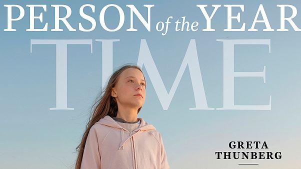 Greta Thunberg à la couverture du magazine Time en tant que Personnalité de l'année