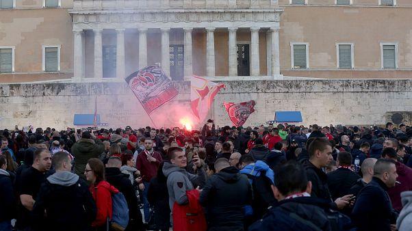 Ολυμπιακός - Ερυθρός Αστέρας: Γιορτή στο κέντρο της Αθήνας