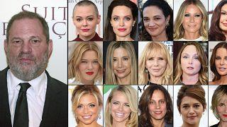 Harvey Weinstein ve onu taciz ile suçlayan aktrisler