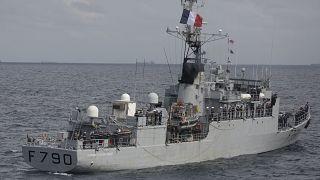 بارجة حربية تابعة للبحرية الفرنسية (صورة من الأرشيف)
