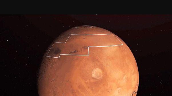 Mars'ın Arcadia bölgesi