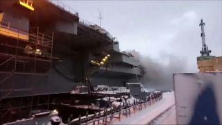 "На авианосце ""Адмирал Кузнецов"" обнаружено тело погибшего"