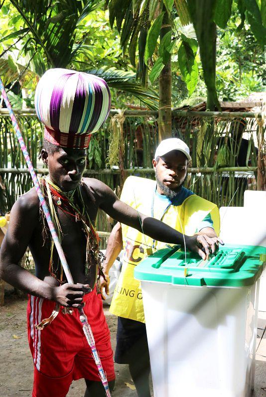 Jeremy Miller/Bougainville Referendum Commission/Handout via REUTERS