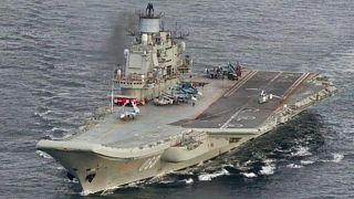 حريق على متن حاملة الطائرات الروسية الوحيدة المتوقفة في القطب الشمالي