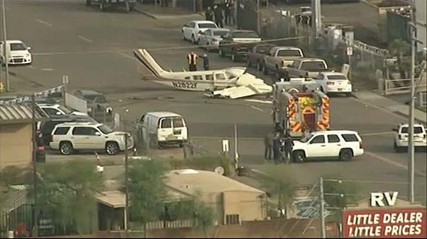 Accident d'avion dans une rue de Phoenix
