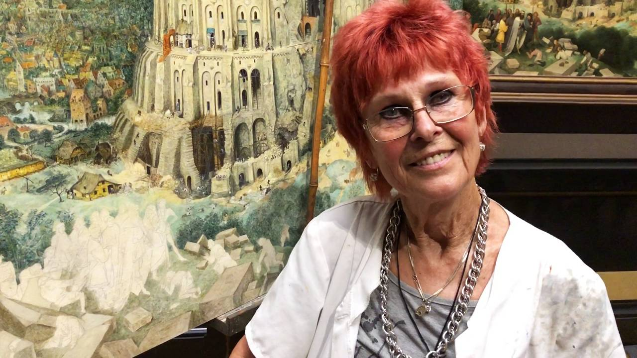 Avusturyalı ressam Brigitte Humpelstetter, Babil Kulesi tablosunu bir yılda kopyalıyor