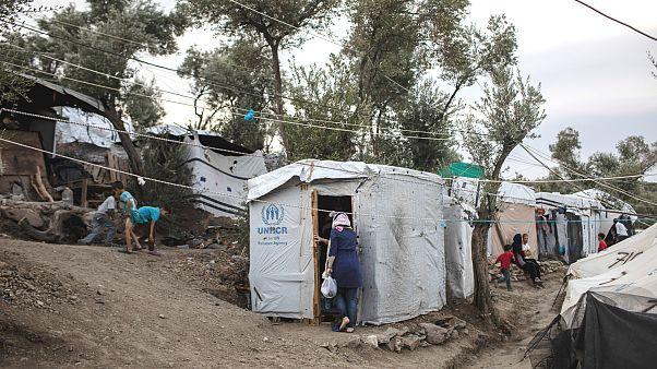 Yunanistan'ın Midilli Adası'ndaki Moria Kampı