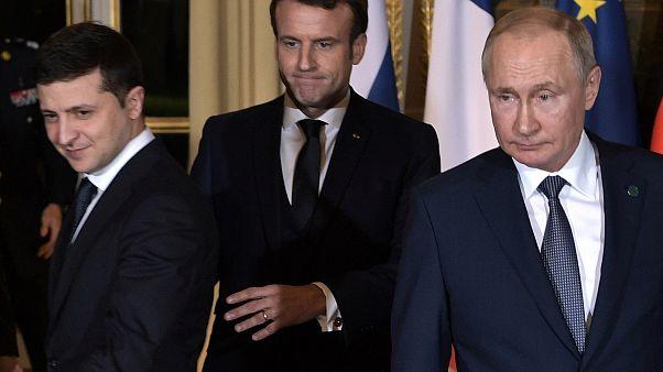 Putin, Zelenskiy, Macron