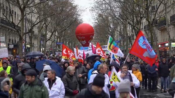 Manifestation parisienne du 12 décembre 2019 Capture d'écran du sujet /AP