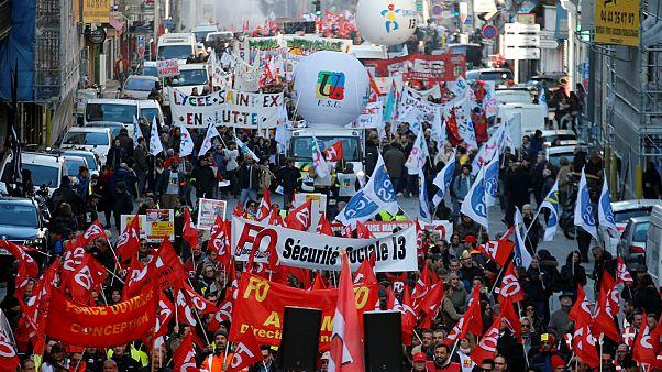 مظاهرات في مدينة مرسيليا ضد مشروع مشروع إصلاح نظام التقاعد