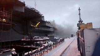 Russland: Brand auf Flugzeugträger Admiral Kusnezow