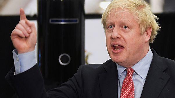 El ´líder conservador y primer ministro del Reino Unido Boris Johnson habla en Uxbridge tras ganar su escaño.