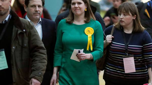 Liberal Democrats candidate for East Dunbartonshire Jo Swinson is seen at a counting centre for Britain's general election in Bishopbriggs, Britain December 13, 2019.