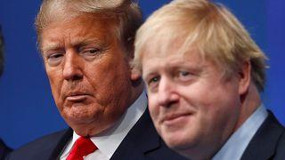 El presidente de Estados Unidos Donald Trump y el Primer Ministro británico Boris Johnson.