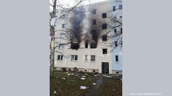 Photo du bâtiment après l'explosion