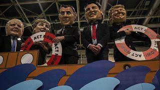 BM İklim Konferansı COP25'te protesto gösterisi