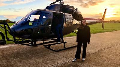 Flying over London with Helicopter Film Services