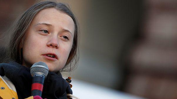 """Genç iklim aktivisti Greta Thunberg İtalya'nın Torino kentinde """"Gelecek için cuma günleri"""" eyleminde"""