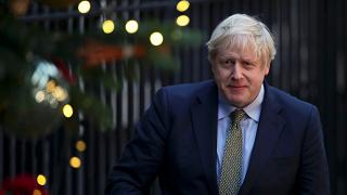 Britain's Prime Minister Boris Johnson is pictured after delivering a statement at Downing Street after winning the general election, in London, Britain, December 13, 2019.