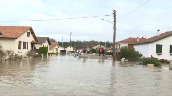 Le Sud-Ouest de la France frappé par de fortes intempéries