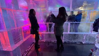 Washington : un labyrinthe de glace géant installé