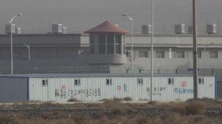 Doğu Türkistan'ın Atuş kentinde bir toplama kampı