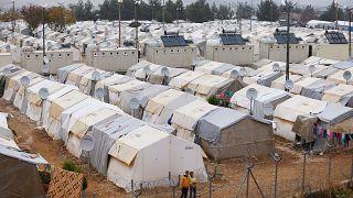 Gaziantep'in Nizip ilçesindeki mülteci kampından genel görüntü